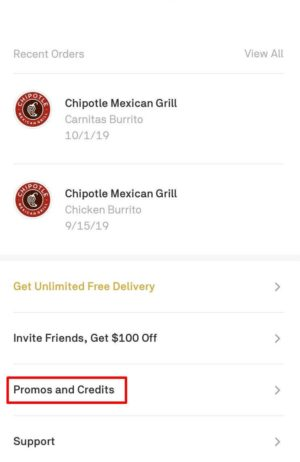 How to Enter a Postmates Promo Code