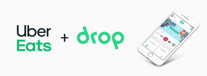 Drop App CTA for Food Delivery